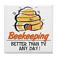 Beekeeping Tile Coaster