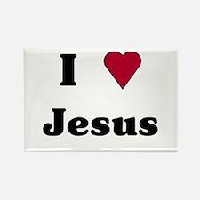 """I Love Jesus"" Rectangle Magnet"