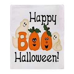 Ghostly Boo! Throw Blanket