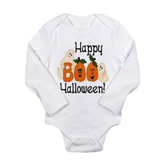 Ghostly Boo! Long Sleeve Infant Bodysuit