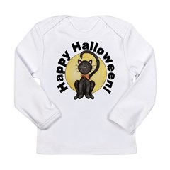 Black Cat Full Moon Long Sleeve Infant T-Shirt
