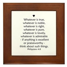 """Philipians 4:8"" Framed Tile"
