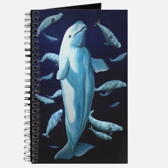 Beluga Whale Journal Wildlife Art Notebook Diary