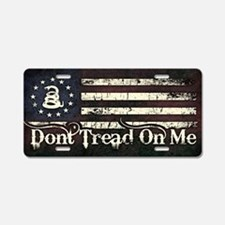 DTOM - Snake Flag Aluminum License Plate