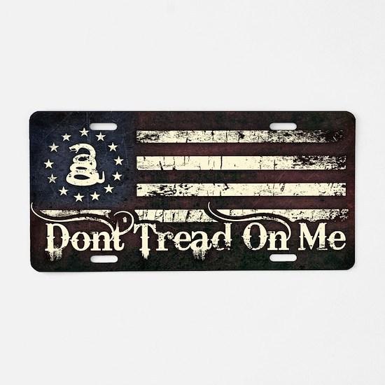 DTOM - Snake Flag Aluminum License Plate