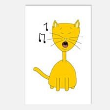 Cute Ginger Singing Cat Postcards (Package of 8)