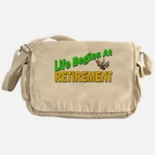 Life Begins At Retirment Messenger Bag