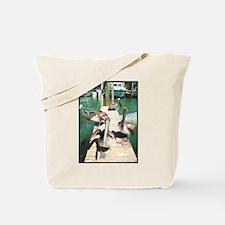 Brown Pelicans Tote Bag