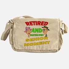 Retired Senior Moment Messenger Bag