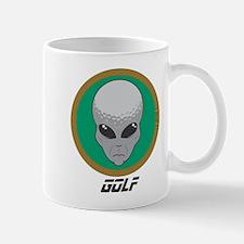 Alien Head Golf Mug