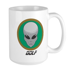 Alien Head Golf Mug