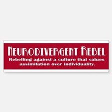 Neurorebel Red Bumper Bumper Bumper Bumper Sticker