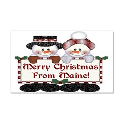 Merry Christmas From Maine! Car Magnet 20 x 12