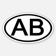 AB - Initial Oval Oval Decal