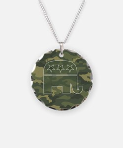 Republican Gift Items Necklace Circle Charm