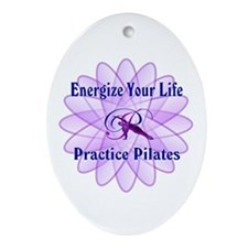 Cute Pilates Ornament (Oval)