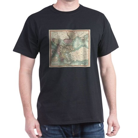 Vintage Map of The Balkans and Turkey (180 T-Shirt