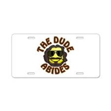 BL: Smiley Aluminum License Plate