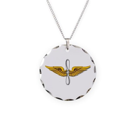 Army Aviation Insignia Necklace Circle Charm