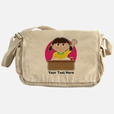 Little Girl at School Messenger Bag
