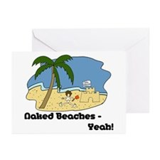 Naked Beaches - Yeah! Greeting Cards (Pk of 20)