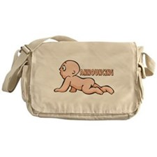 Announcing Baby Messenger Bag