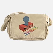 April Due Date Messenger Bag