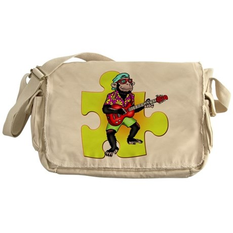 Rock and Roll Monkey Messenger Bag