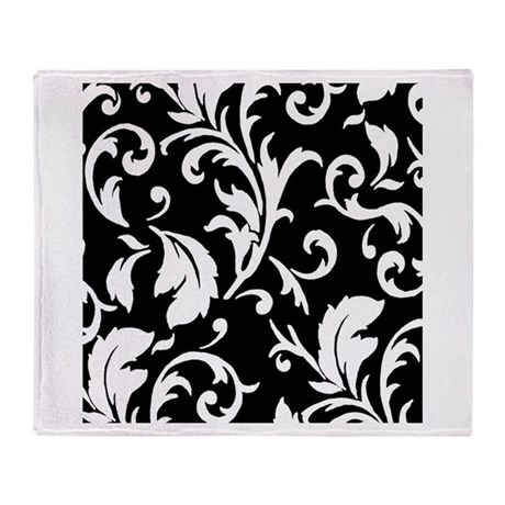 black and white damask throw blanket by theartofvenus. Black Bedroom Furniture Sets. Home Design Ideas