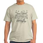 Dual Image Light Colored T-Shirt