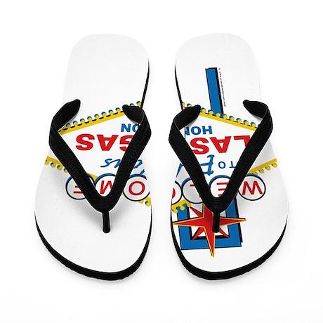 Las Vegas Honeymoon Flip Flops