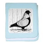 Starling Pigeon Silver baby blanket