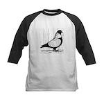 Starling Pigeon Silver Kids Baseball Jersey
