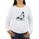 Starling Pigeon Silver Women's Long Sleeve T-Shirt