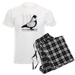Starling Pigeon Silver Men's Light Pajamas