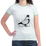 Starling Pigeon Silver Jr. Ringer T-Shirt