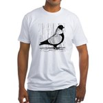 Starling Pigeon Silver Fitted T-Shirt