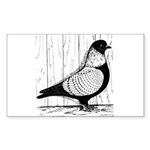 Starling Pigeon Silver Sticker (Rectangle 10 pk)