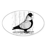 Starling Pigeon Silver Sticker (Oval 50 pk)