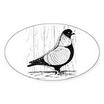 Starling Pigeon Silver Sticker (Oval 10 pk)