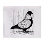 Starling Pigeon Silver Throw Blanket
