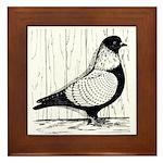 Starling Pigeon Silver Framed Tile