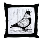 Starling Pigeon Silver Throw Pillow