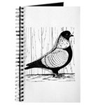 Starling Pigeon Silver Journal
