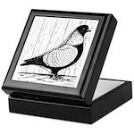 Starling Pigeon Silver Keepsake Box