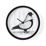 Starling Pigeon Silver Wall Clock