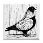 Starling Pigeon Silver Tile Coaster