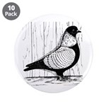 """Starling Pigeon Silver 3.5"""" Button (10 pack)"""