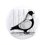 """Starling Pigeon Silver 3.5"""" Button"""