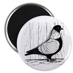"""Starling Pigeon Silver 2.25"""" Magnet (100 pack"""